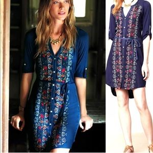 🌿 Anthropologie Plein Air Tiny embroidered dress